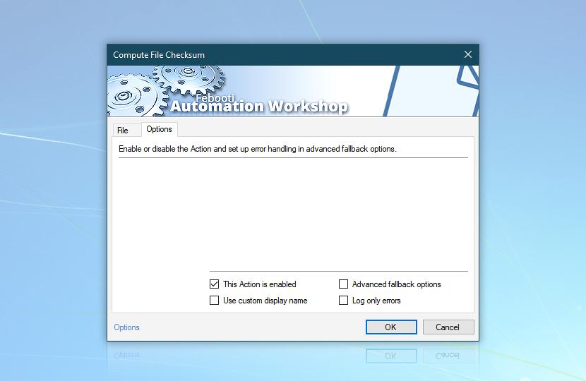 Compute File Checksum · Options