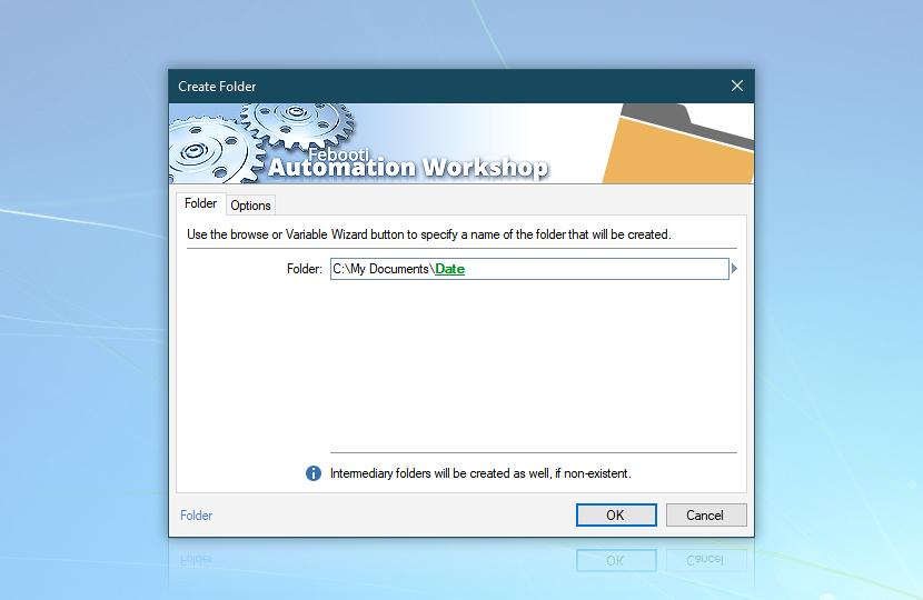 Create folder · Folder