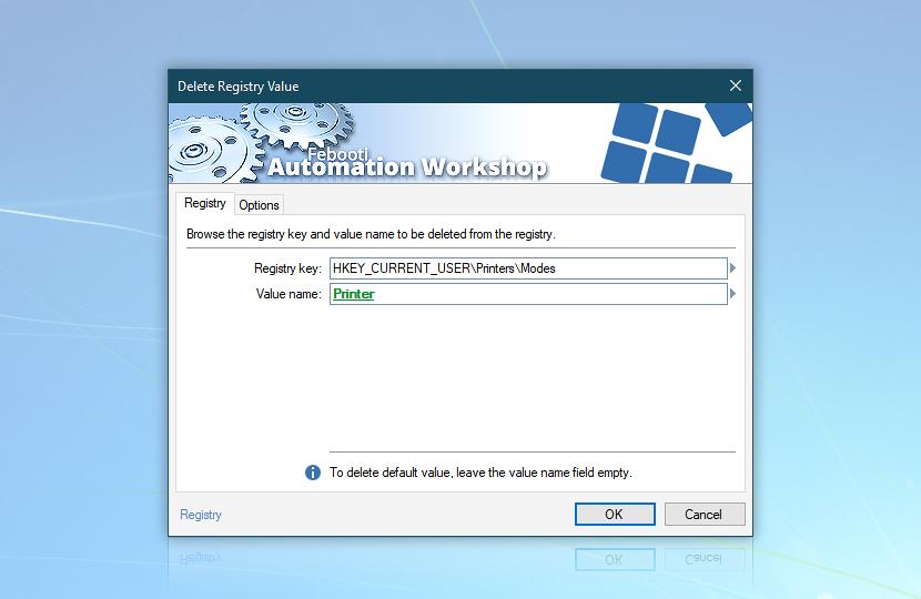 Delete Registry Value · Registry