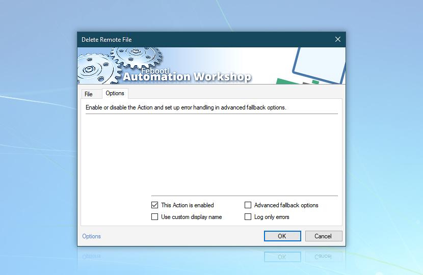 Delete remote file · Options