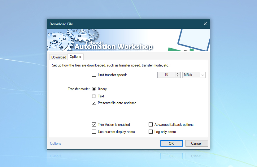 Download file · Options