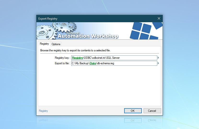 Export Registry · Registry