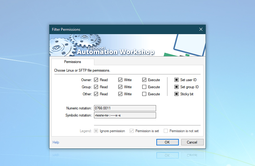 Filter permissions for list remote files