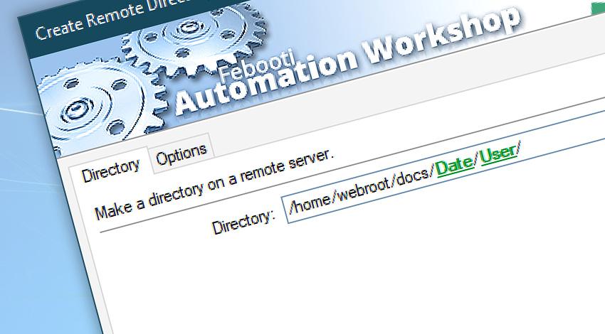Create remote directory