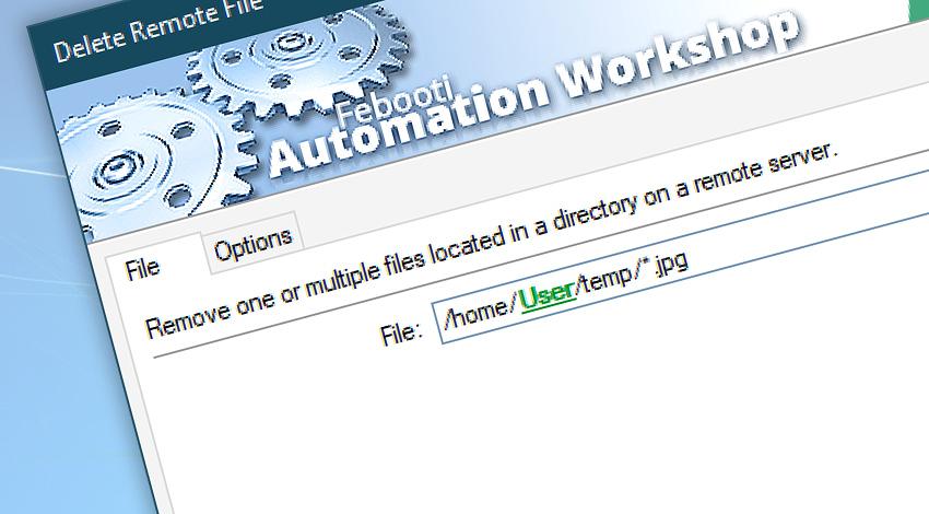 Delete remote file