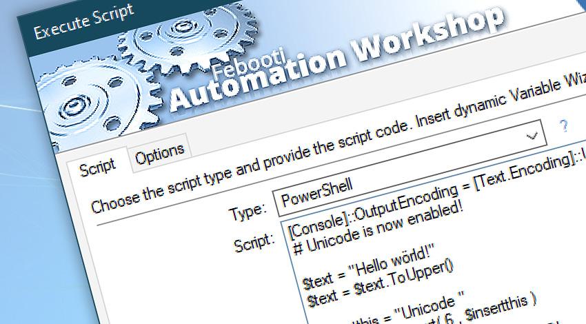 Execute Script & PowerShell