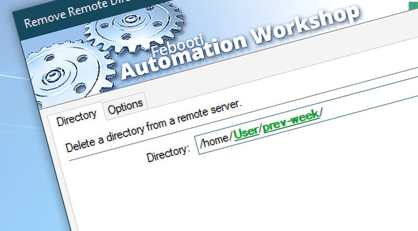 Remove remote directory