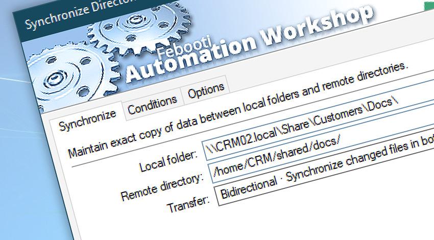 Synchronize directories