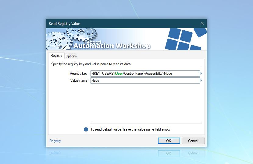 Read Registry Value · Registry