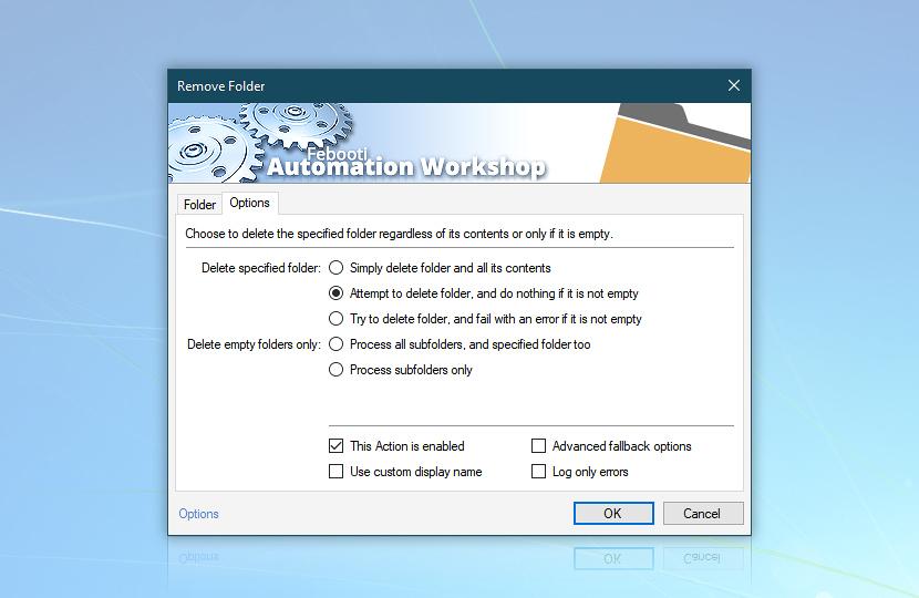 Remove Folder · Options