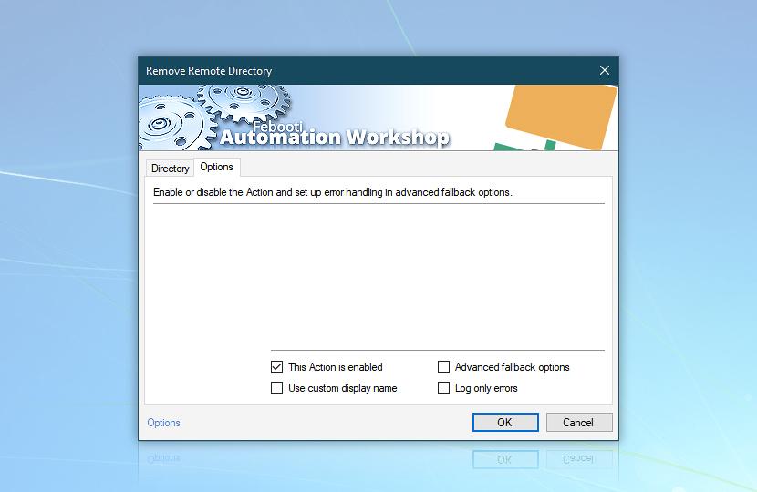 Remove Remote Directory · Options
