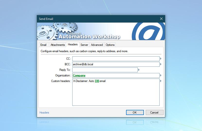 Send email · Headers