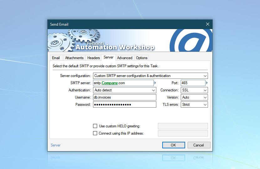 Send Email · Server