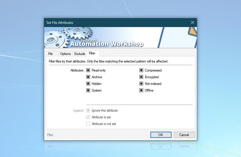 Set File Attributes · Filter