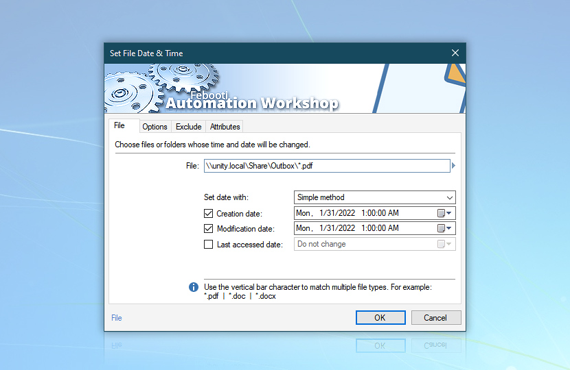 Set File Date & Time · File