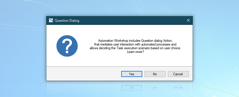 Question dialog example