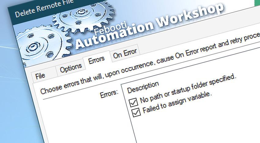 Delete remote file events