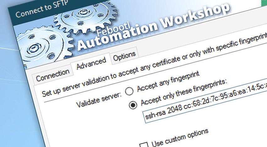 Connect to SFTP · Fingerprints