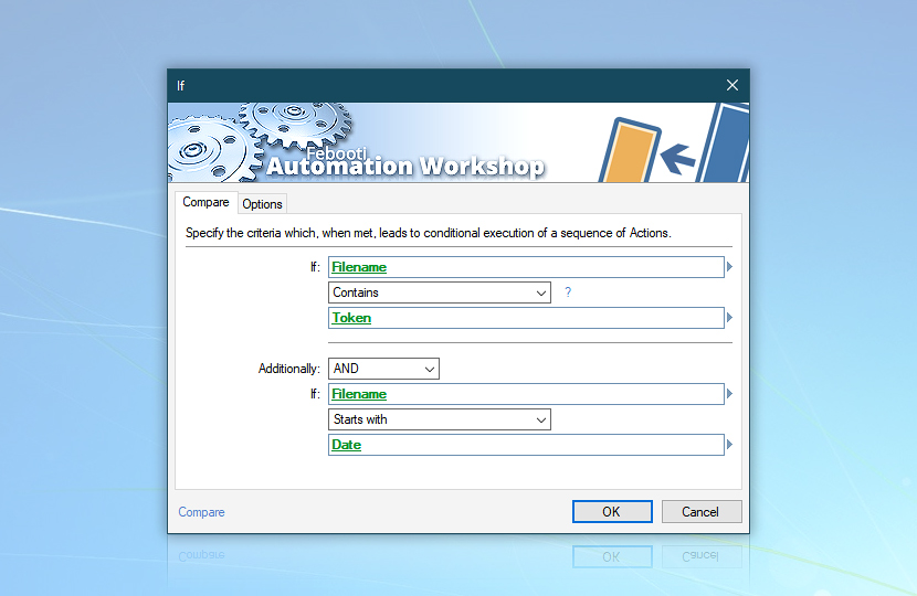 Advanced Compare · Automation Workshop screenshot