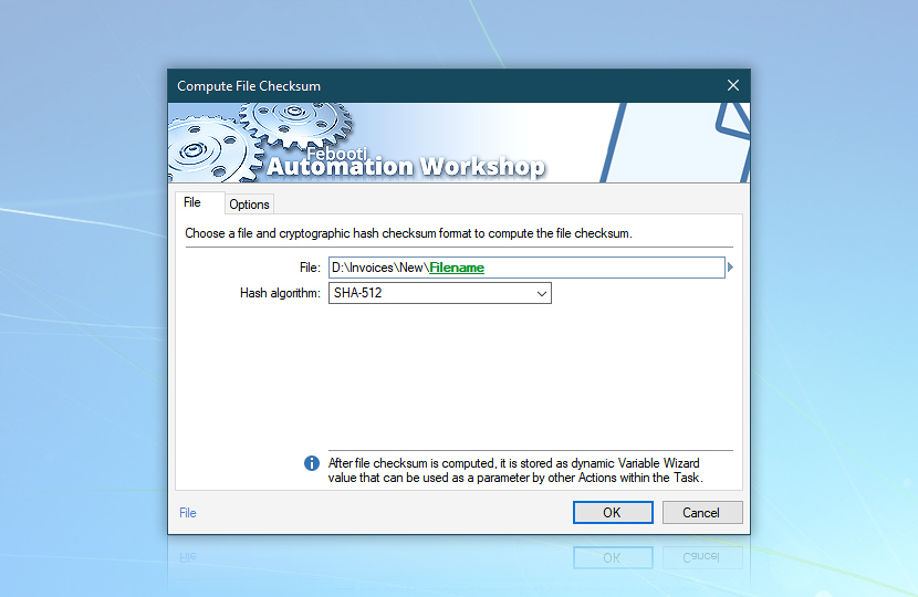 Compute File Checksum · Automation Workshop screenshot