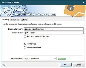 Automated trigger · Amazon S3 watcher