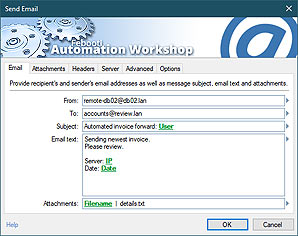 Automate action · Send email