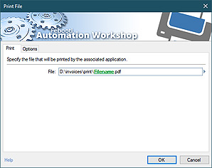 Automate action · Print file