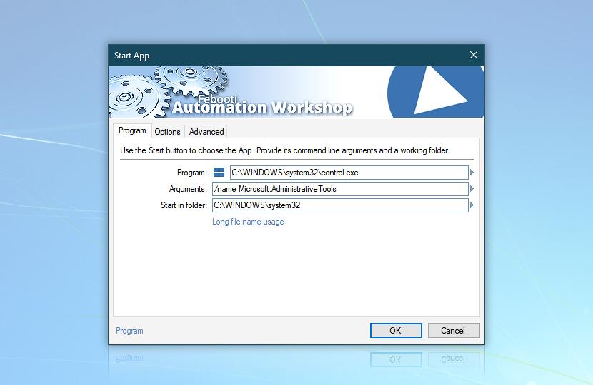 Start Application · Automation Workshop screenshot