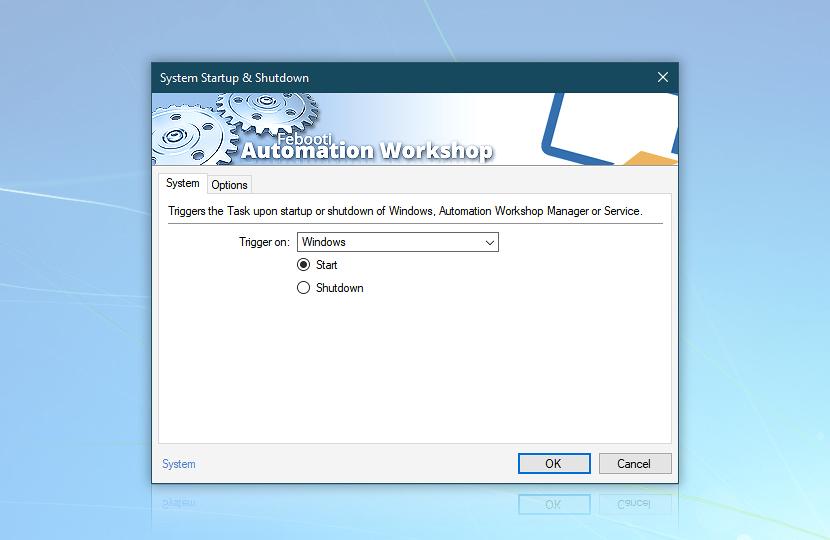 Trigger on Windows start