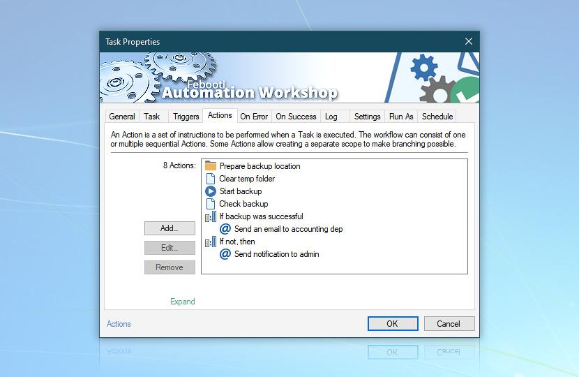 Task Actions · Use custom display name