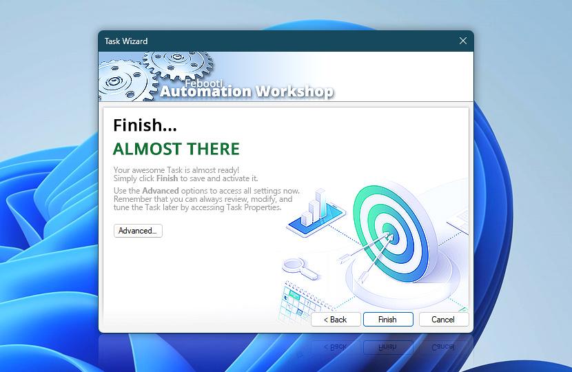 Task Wizard · Finish