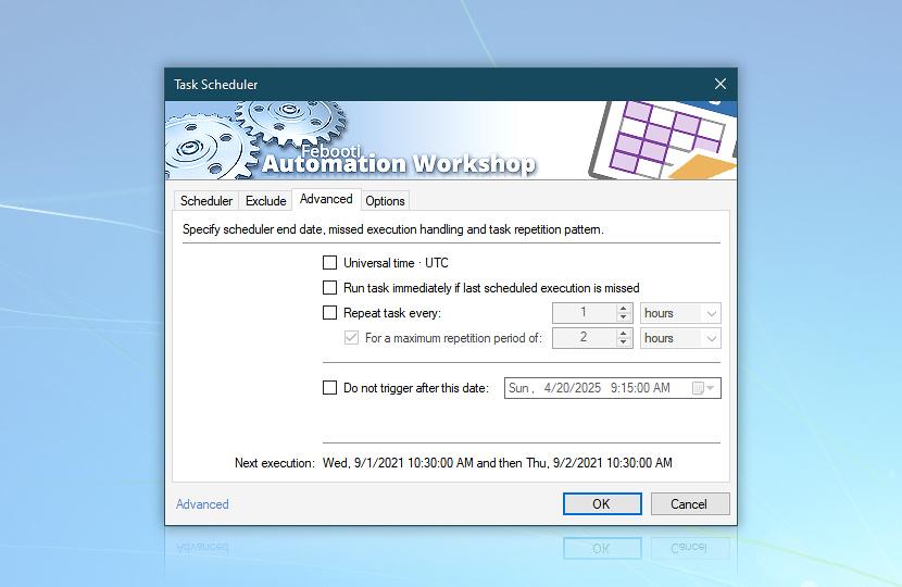Task scheduler · Advanced
