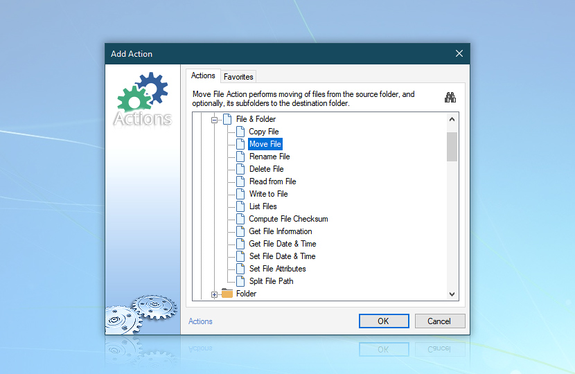 Add Action: Move file