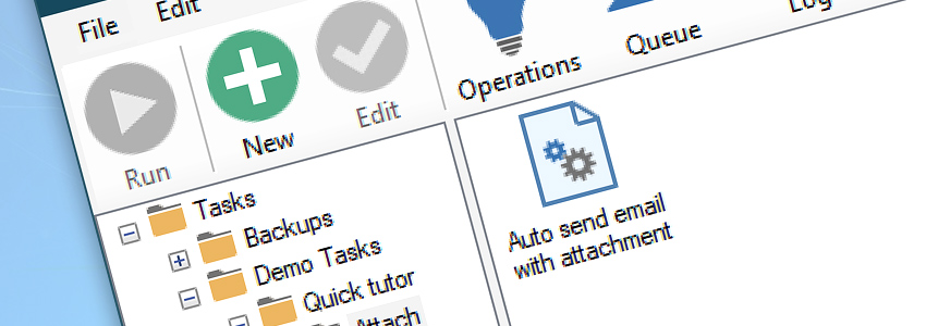 Automated task · Auto send email with attachment
