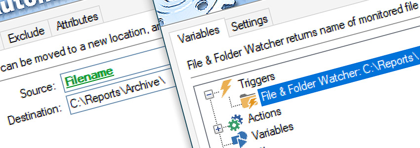 Configure Move File Action & Variable Wizard…