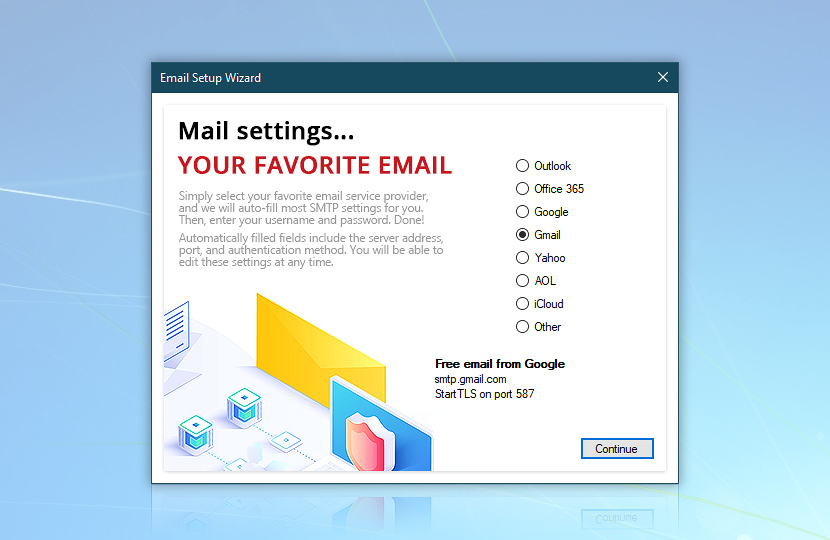 Email Setup Wizard