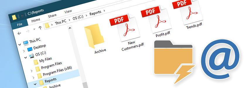 Windows Explorer · PDF files · Watch & send attachments