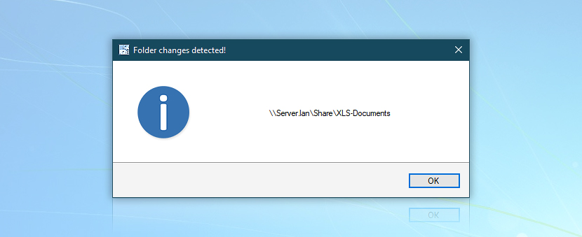 Show message: Folder changes detected! · \\Server.lan\Share\XLS-Documents