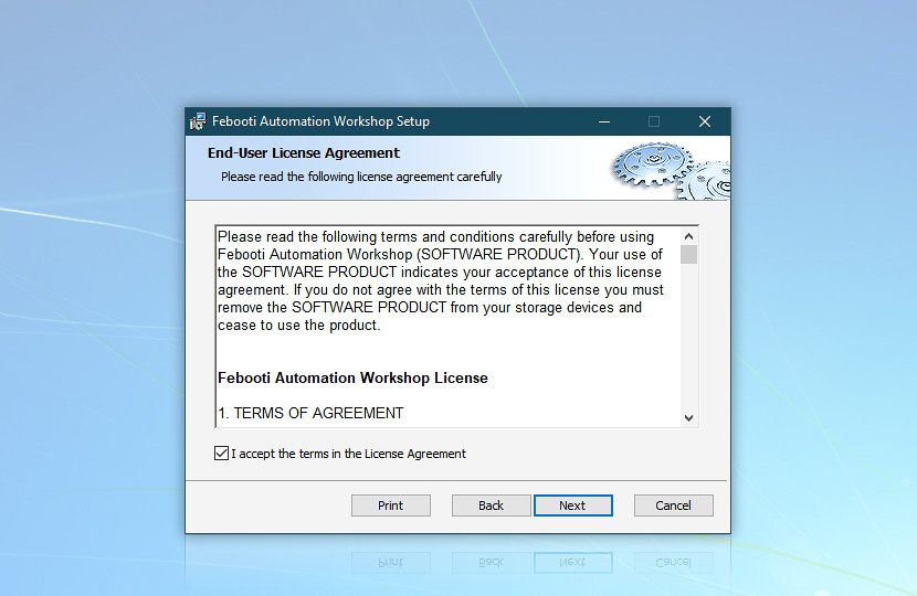 Automation Workshop End-User License Agreement
