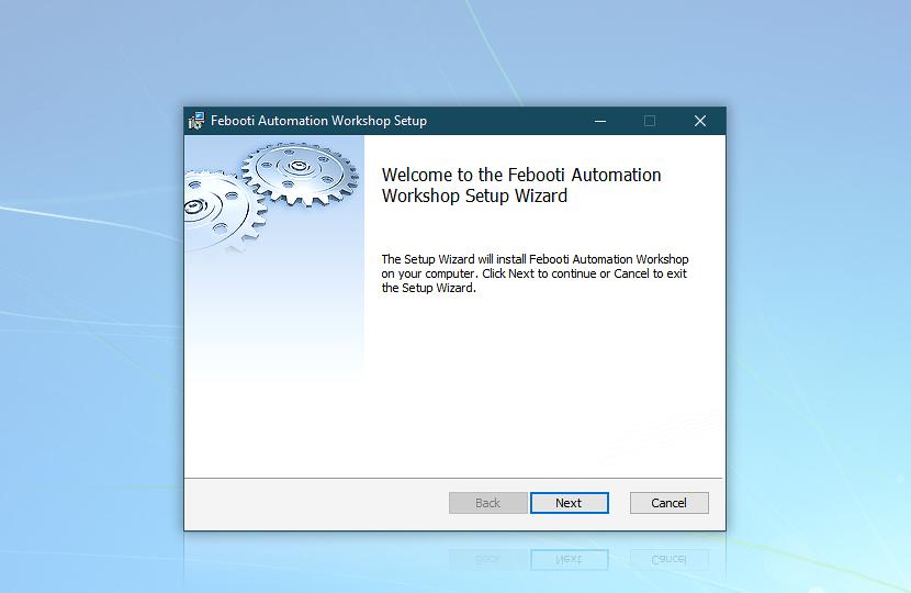 Automation Workshop Setup Wizard