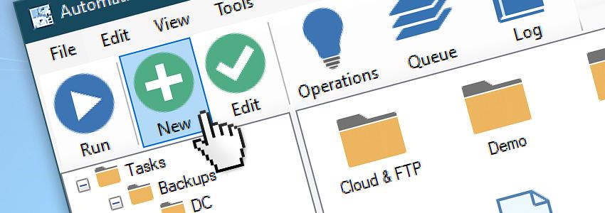 Create a New automated Task via GUI