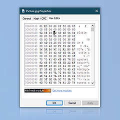 Preview of Hex editor expanded