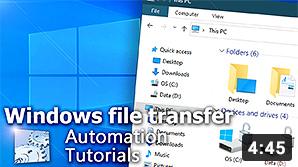 Video YouTube · Automatizza il trasferimento di file in Windows