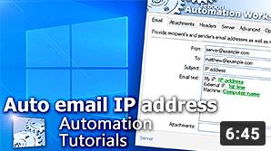 Video YouTube · Invia indirizzo IP (auto)