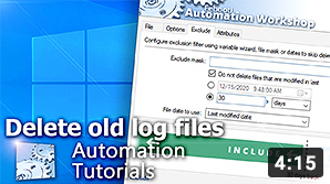 Video YouTube · Elimina vecchi file log