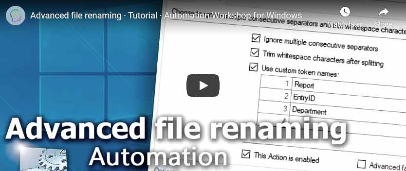 YouTube video · Advanced file renaming