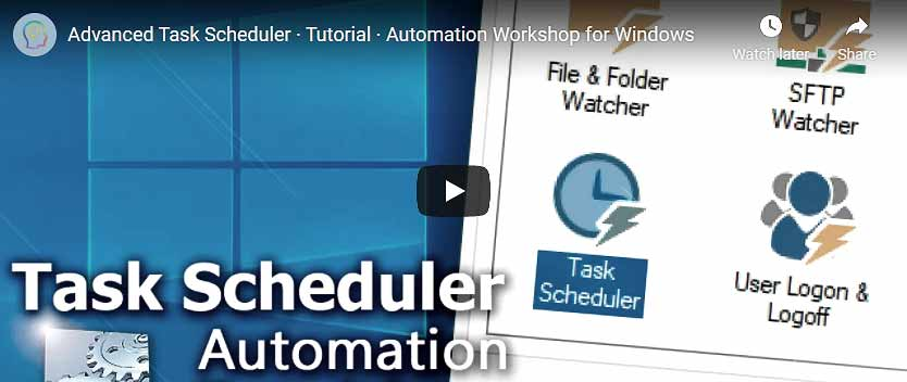 YouTube video · Advanced Task Scheduler